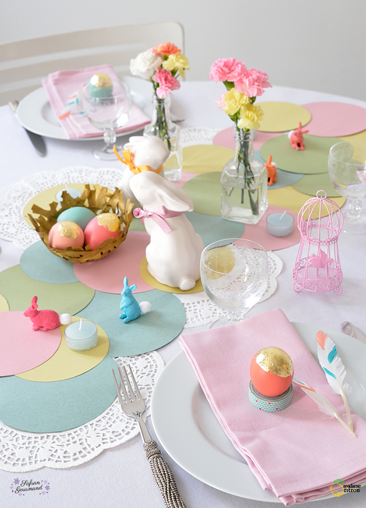 Table de f te de p ques madame citron blog de cr ations et diy - Table de paques deco ...